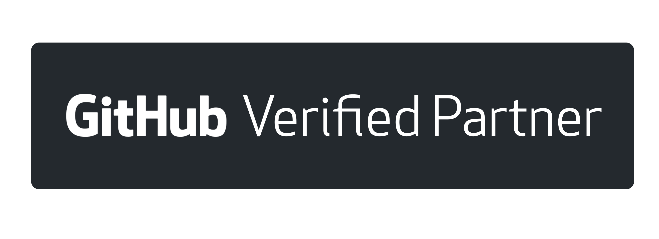 GitHub Verified Partner - black