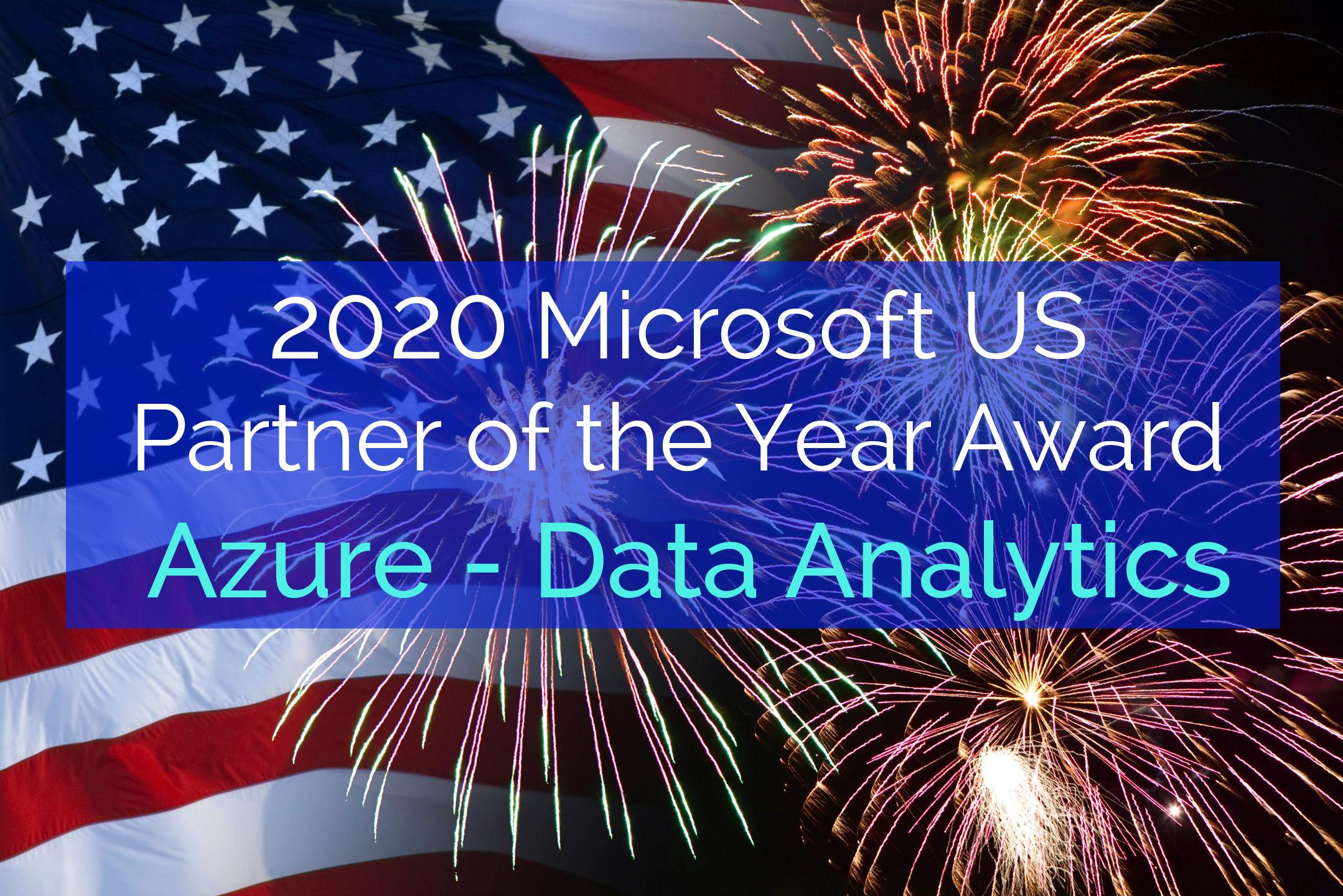 US Microsoft Partner Award Data Analytics 2020